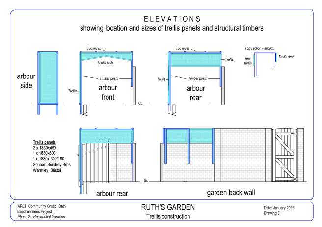 Ruth's Garden Drawings 310315-3 Arbour elevation