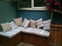 Complete with cushions, hurrah!