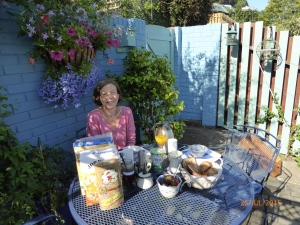 Sunny Sunday breakfast on the terrace