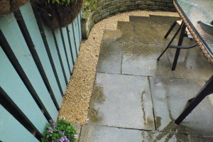 This plain gravel border will burst into life in the spring